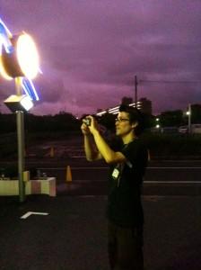 Purple sky @HONMOKU YOKOHAMA