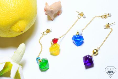 2018年新作第2弾 Diamond Pendulum Earrings